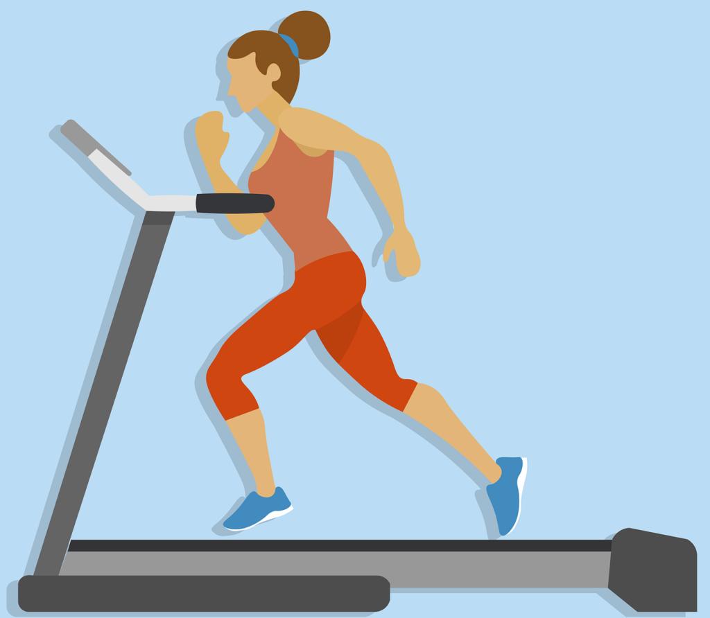 אישה עושה ריצה